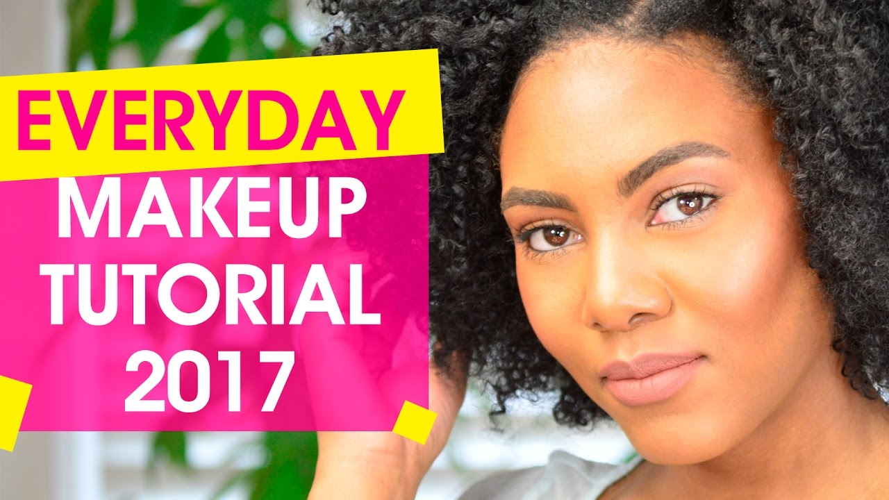 Everyday Makeup Tutorial for Black Women 2017 - YouTube