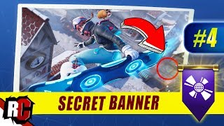 Fortnite | WEEK 4 Secret Banner Location (Season 7 Week 4 Loading Screen / Snowfall Skin)
