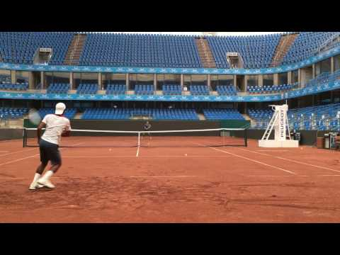 Imad Amer tennis at center court istanbul TEB part 3