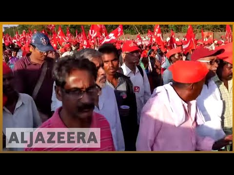 🇮🇳 India: Thousands of farmers march for more rights | Al Jazeera English
