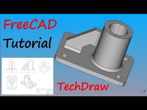 FreeCAD Tutorial – Zeichnungsableitung eines Bauteils mit Bemaßung