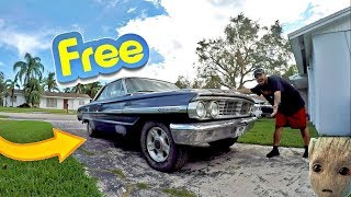 I GOT IT..FOR FREE!! Meet GROOT The Abandoned Ford Galaxie 500