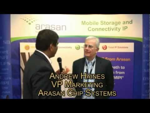DAC 2012, Andrew Haines, VP Marketing, Arasan Chip Systems