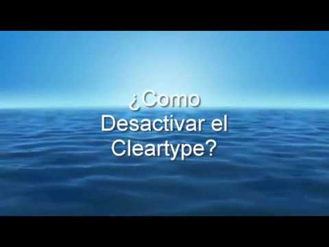 Como desactivar el Cleartype en Windows 10