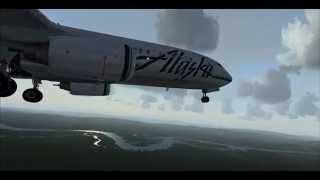 FSX | PMDG 737 NGX | Approach and landing at Fairbanks Intl, AK