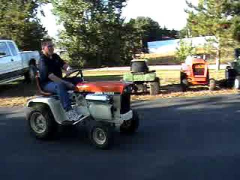 Brent Test Driving John Deere 112 Patio Garden Tractor