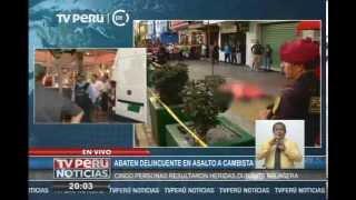 Surquillo: Delincuente muere en un tiroteo con la policía