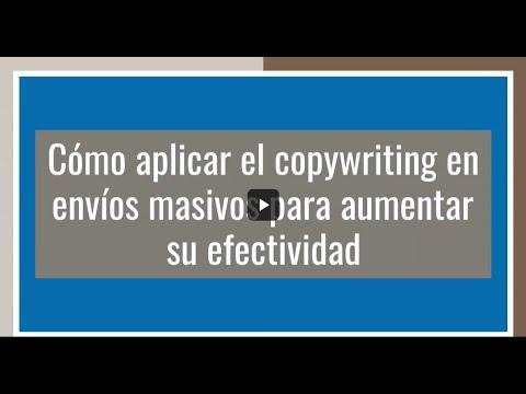 Cómo aplicar el copywriting en envíos masivos para aumentar su efectividad