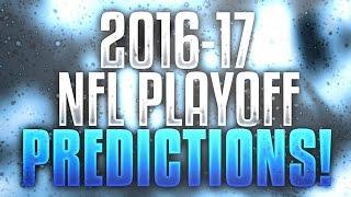 NFL 2017 Playoff Predictions 100% correct so far (7 games)!