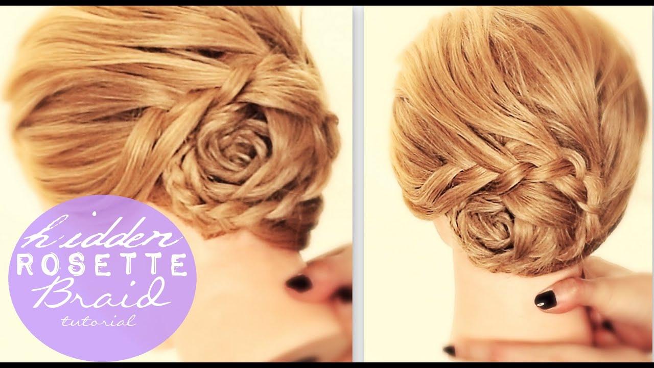 hidden rosette braid bun tutorial