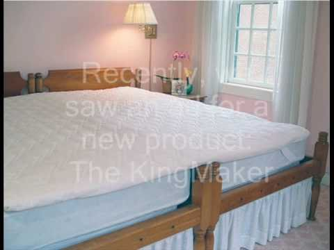 The Sleep Shop Tests The King Maker Twin Bed Coupler Youtube