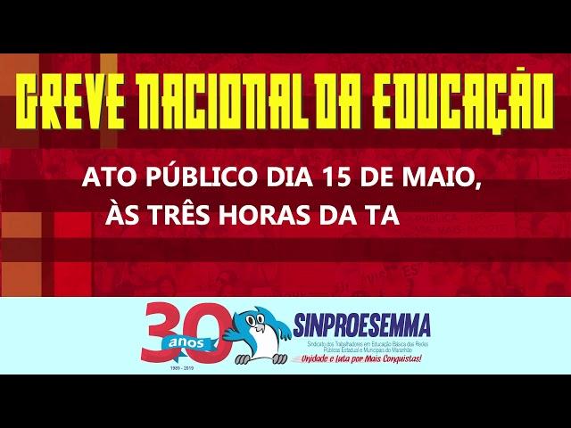 Greve Geral da Educação 15 de maio de 2019