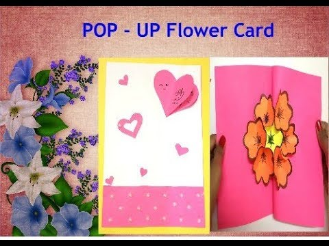 DIY 3D Flower POP – UP Card for Friendship Day! / POP – UP  Card tutorial by Akshara Bhat