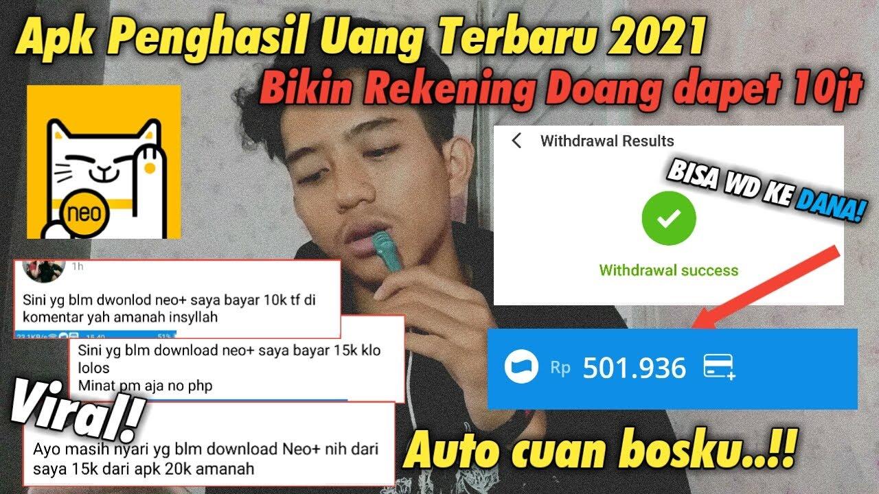 APLIKASI PENGHASIL UANG TERBARU YANG LAGI VIRAL 2021 ...