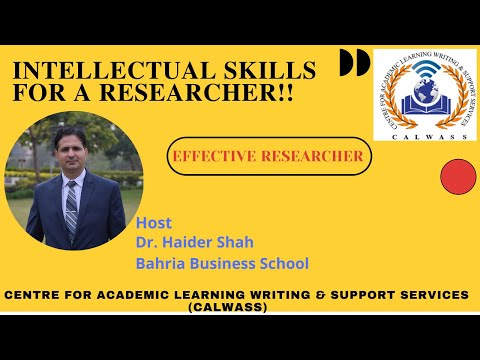 Intellectual Skills FOR A Researcher!! (In English)