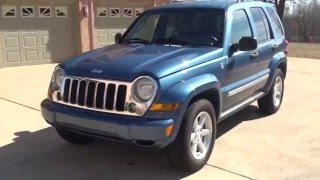 HD VIDEO 2006 JEEP LIBERTY LIMITED 4X4 BLUE USED FOR SALE INFO SEE WWW SUNSETMOTORS COM