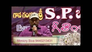 Gambar cover Siva Mimicry in front of the Great living Legend Sri S.P Balasubrahmanyam garu