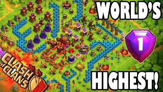 "Clash of Clans - WORLD'S HIGHEST 2 ""#1 PLAYER IN THE WORLD ATTACK REPLAY!"" + LEGENDS LEAGUE REPLAYS!"