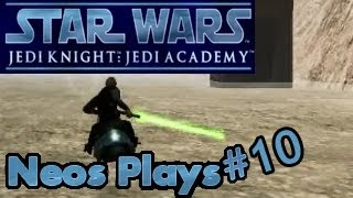 Hover-bike jousting! Star Wars Jedi Academy Part 10 | Neos Plays