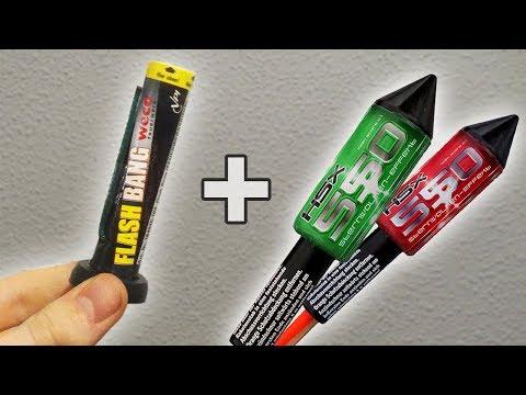 MEHRFACH SALUT Rakete aus FLASHBANGS bauen / Silvester Raketen tunen [HD]