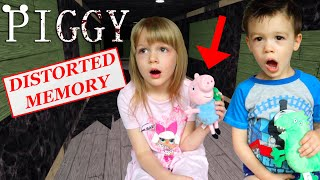 In Real Life Roblox Piggy Distorted Memory! George&#39s Dino &amp Robot Escape!