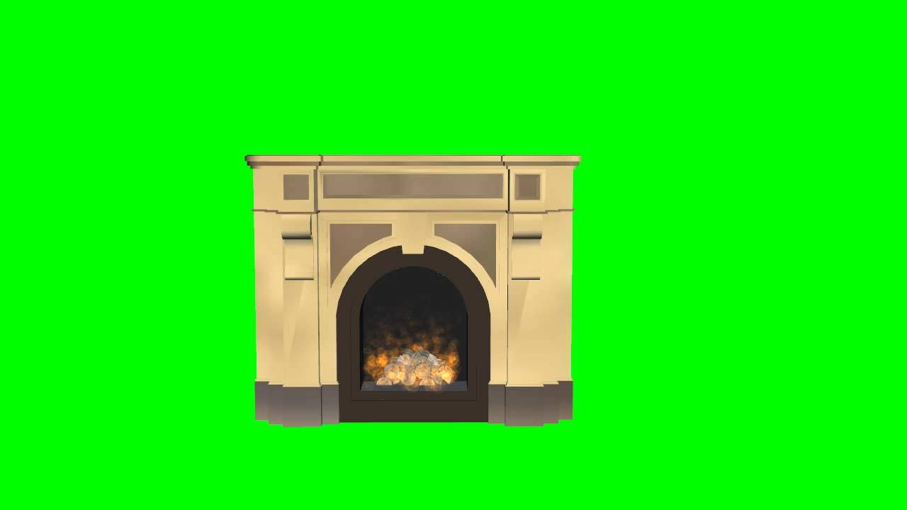 kamin fireplace with a burning fire