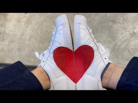 adidas Superstar Half Heart On-Feet