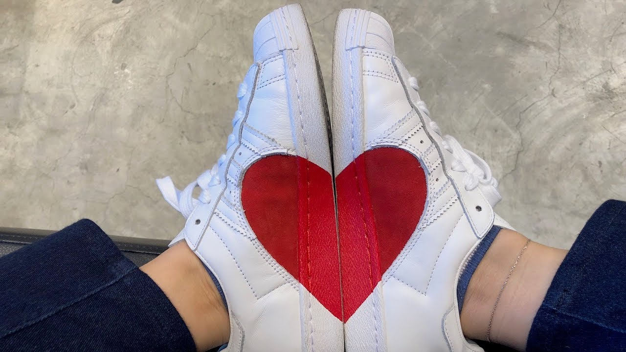 adidas superstar heart