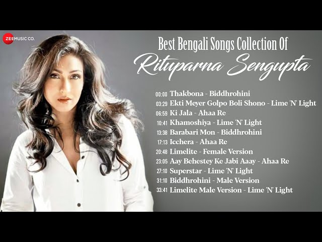 Rituparna Sengupta Superhit Bengali Songs Video Jukebox | Lime 'N' lite, Biddhrohini, Ahaa Re & More
