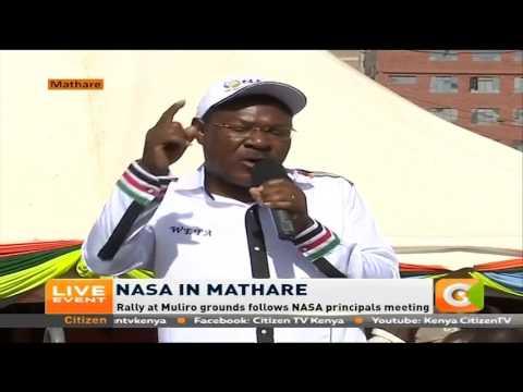 Moses Wetangula's address to NASA suppoters at Mathare, Nairobi