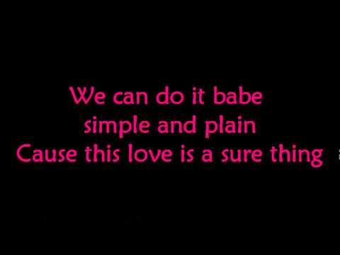 Sure thing - Miguel (lyrics)