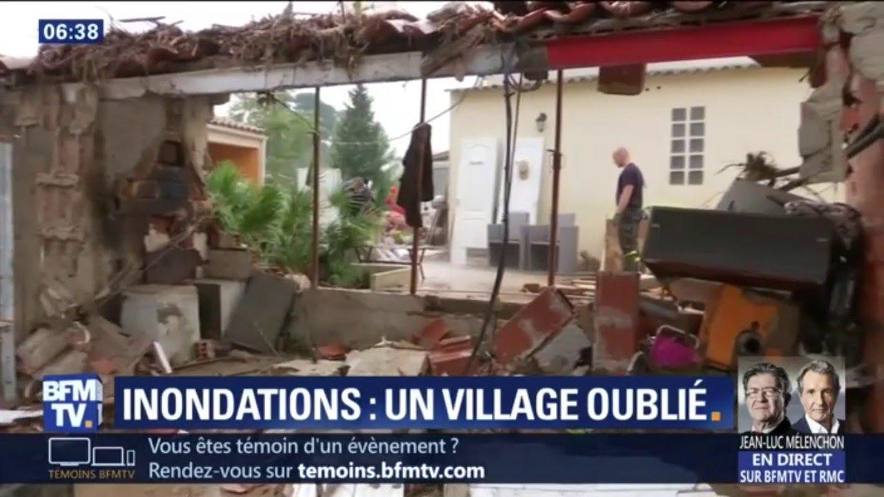 Inondations: le village de Couffoulens se sent oublié