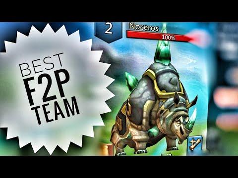 Lords Mobile - Best F2P Noceros Monster Hunting Team