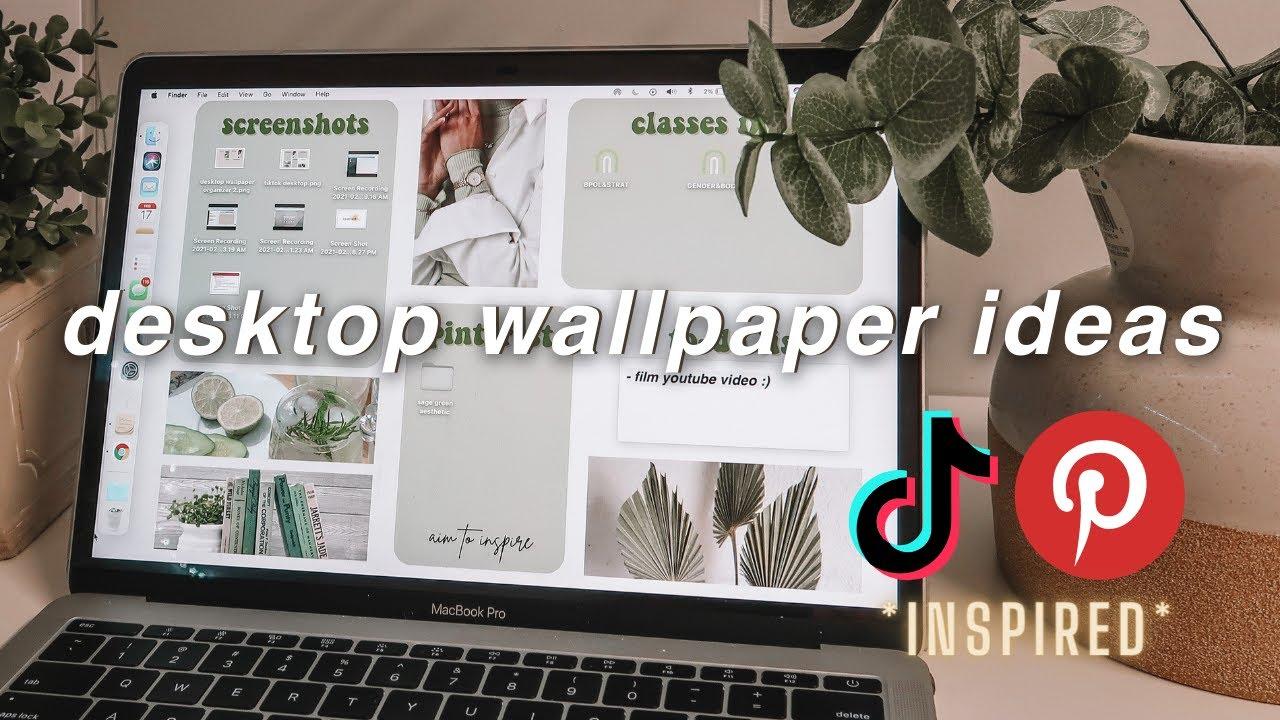 Laptop Desktop Wallpaper Ideas Tiktok Macbook Customization Background Aesthetic Canva Tutorial Youtube