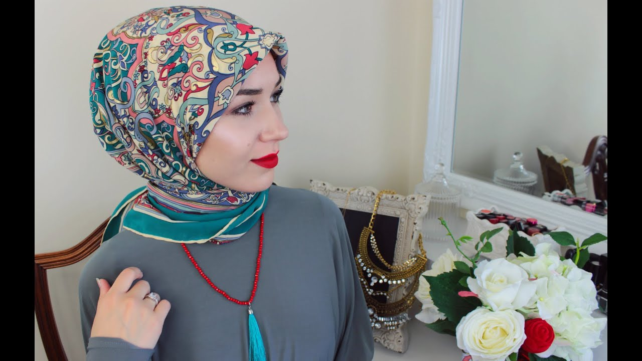2 Hijab Tutorials Using A Square Scarf Youtube