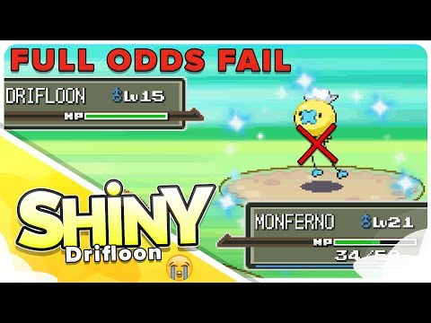 Shiny Fail :( Valley Windworks Drifloon 720 SR's In Pokemon Platinum