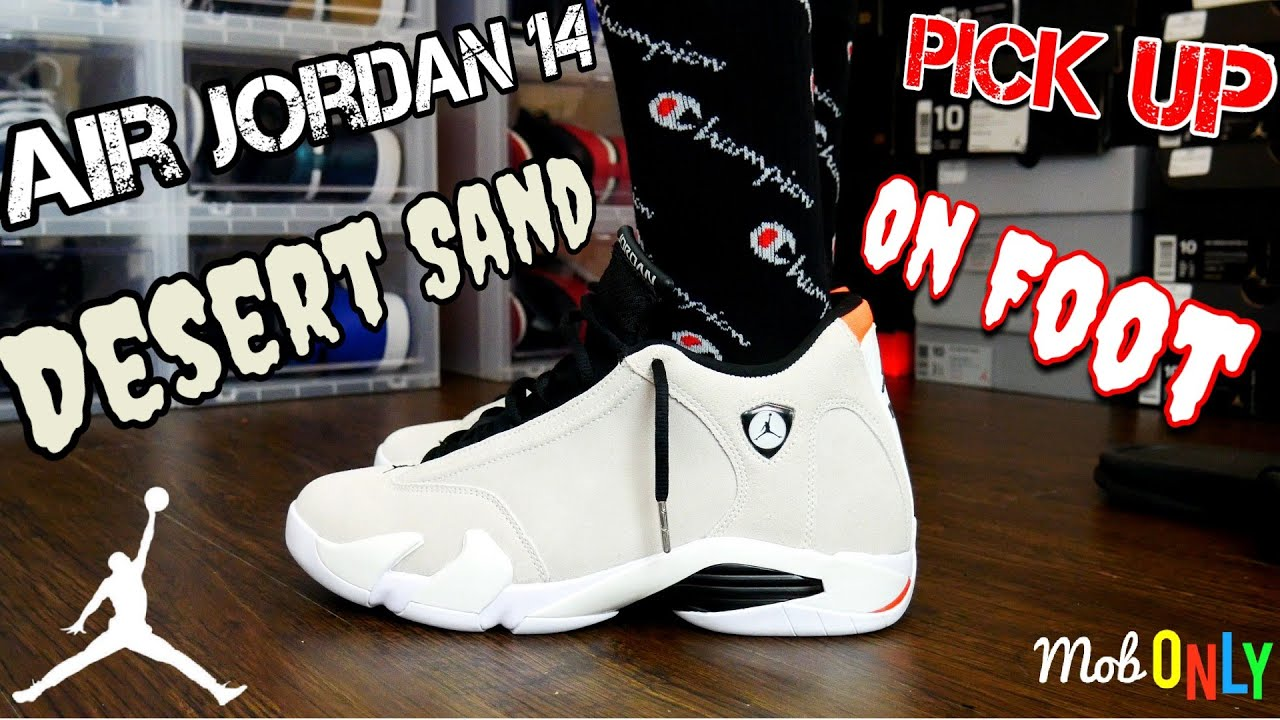 04b2cf290f60 Air Jordan 14 Retro Desert Sand Pick up Vlog   On Foot 4k Ultra HD ...
