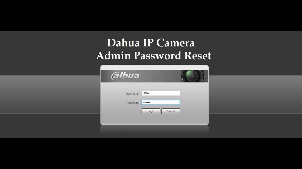 DAHUA IP CAMERA RESET BY HARDWARE - YouTube