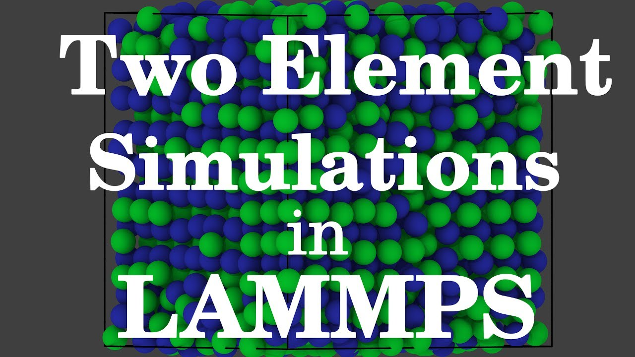 Two Element Simulations in LAMMPS