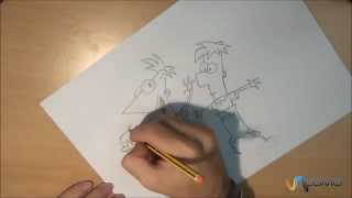 Dibujar a Phineas y Ferb - How to draw Phineas and Fred
