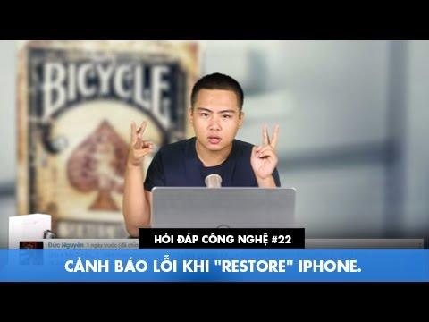 """Hỏi đáp công nghệ 22: Cảnh báo lỗi khi """"Restore"""" iPhone."""