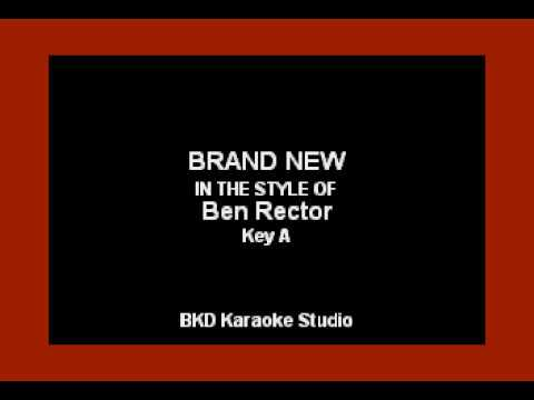Brand New (In the Style of Ben Rector) (Karaoke with Lyrics)