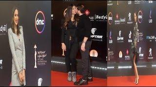 حسام الجندي يقبل زوجته  وهزار درة  ورقصة مريم بـ القاهرة السينمائي