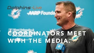 Dolphins Live: Coordinators meet with the media