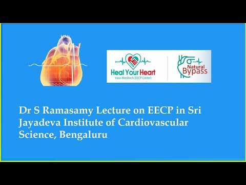 dr s ramasamy lecture on eecp in sri jayadeva institute of cardiovascular science bengaluru
