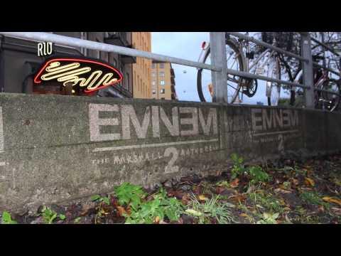 Eminem - MMLP2 | Reverse graffiti in Sweden