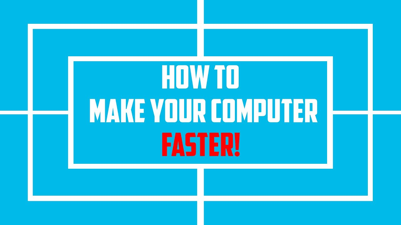 How to Make Your Computer Faster! (2015) - Increase Computer's Performance - YouTube