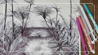 볼펜 드로잉 | 펜 그림그리기 | Ballpoint P…