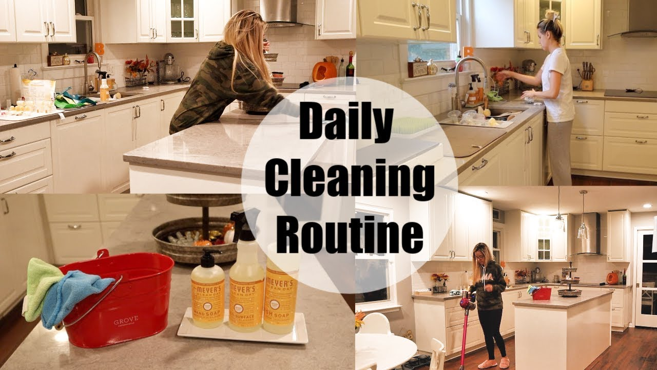 Daily Cleaning Routine Clean With Me 2018 Stay At Home Mom Cleaning Routine