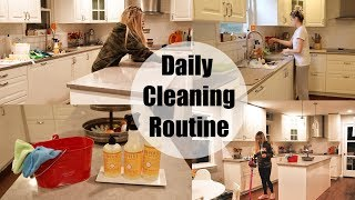 DAILY CLEANING ROUTINE ✨ CLEAN WITH ME 2018 // STAY AT HOME MOM CLEANING ROUTINE
